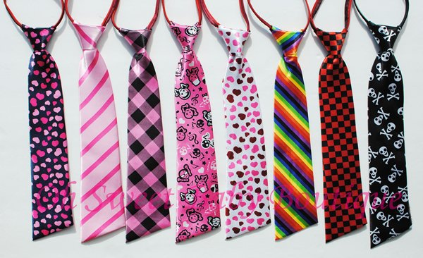 Printed Ties Zipper