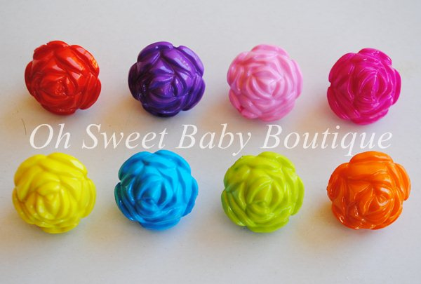Chunky Bead Large Rose