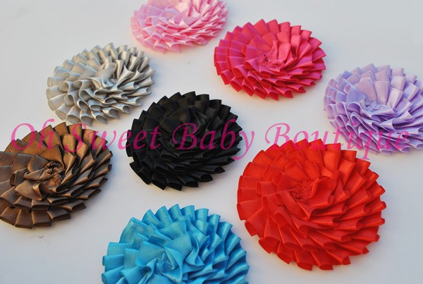 "3"" Pleated Satin Flower"