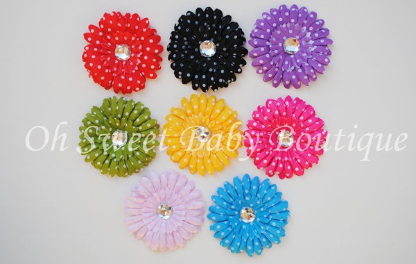 4 Polka Dot Daisies Grab Bag