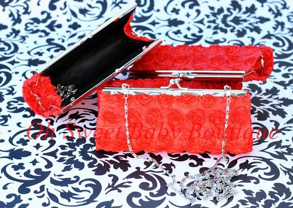 Rosette Clutch Red