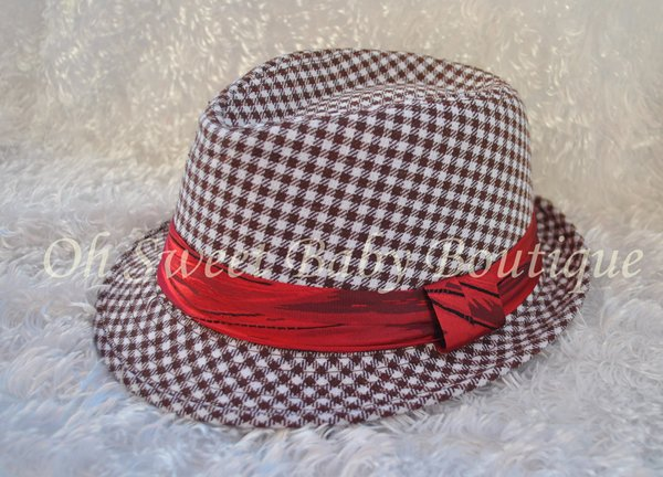 Brown Lattice Fedora