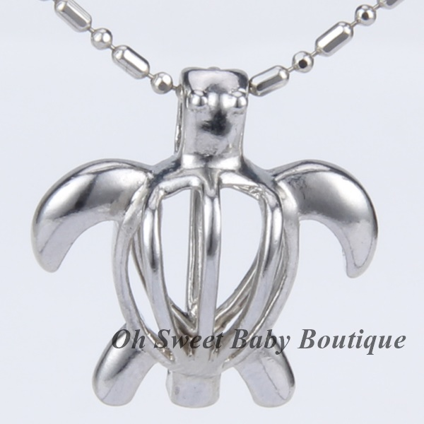 Sea Turtle Cage Pendant
