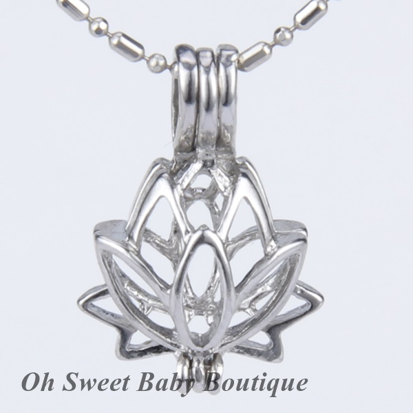 Lotus Flower Cage Pendant