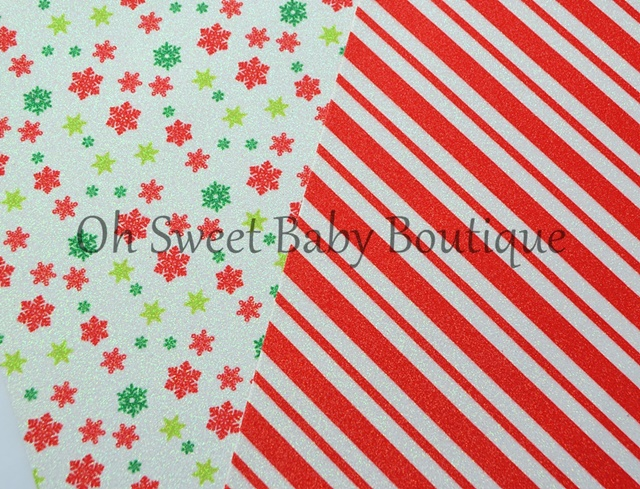 Christmas Glitter Canvas Sheets