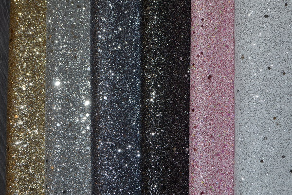 Faux Leather Fine Glitter with Specs