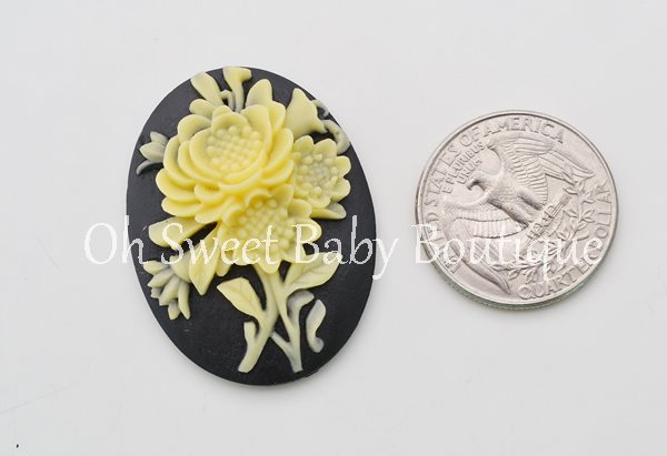 Floral Cameo