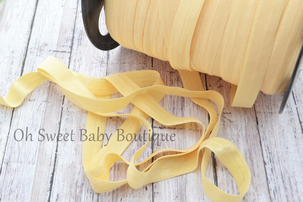 Fold Over Elastic Baby Maize Yellow