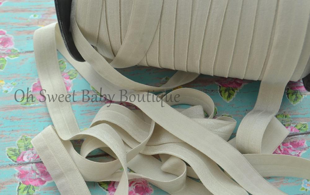 Fold Over Elastic Taupe