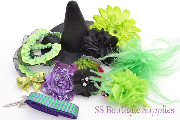 Electric Witch Hat and Headband Kit 6""
