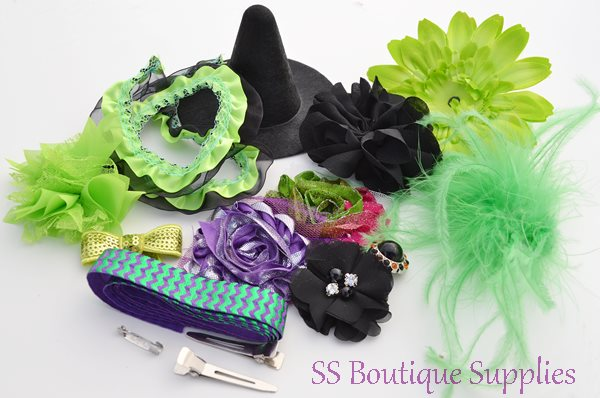 Electric Witch Hat and Headband Kit 4""