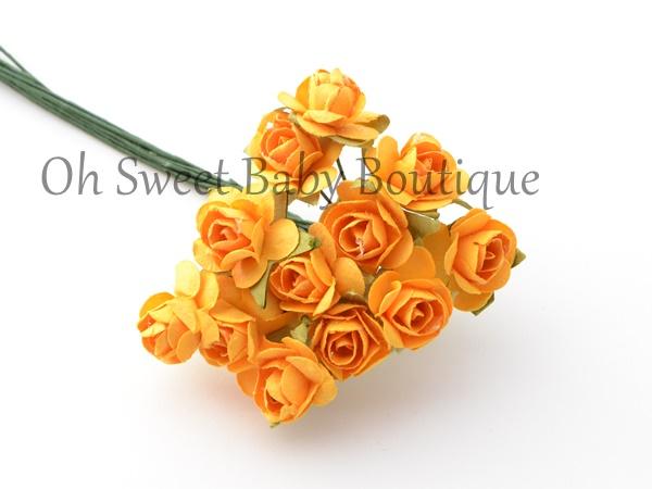 1/2 Paper Flower Orange