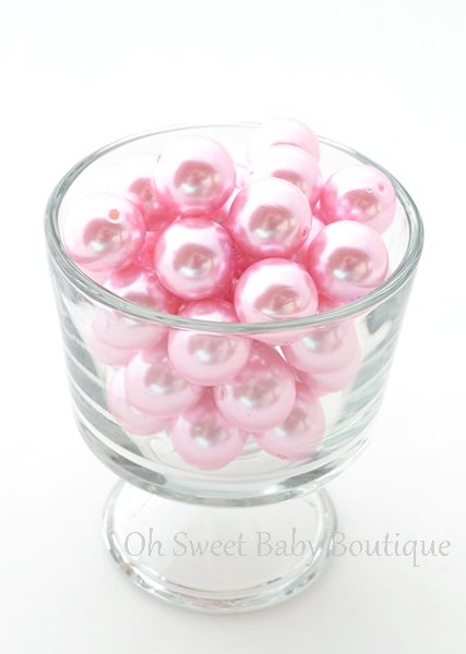 Pearl Bead 20mm Pink