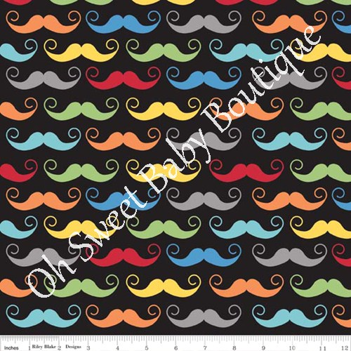 Geekly Chic Cottons Black Mustache