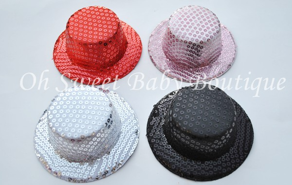 "5"" Round Sequin Top Hats"
