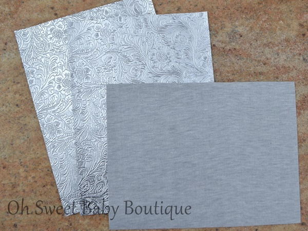 Silver Chrome Metallic Western Floral