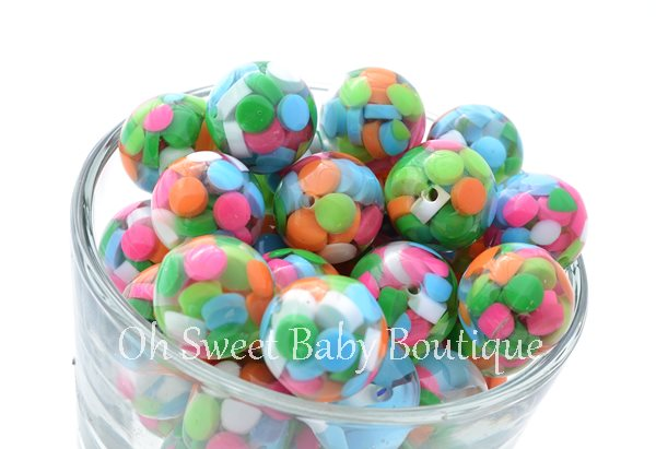 Clear Sprinkle Beads 20mm