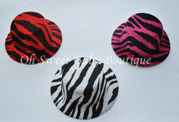 "5"" Round Zebra Top Hats"